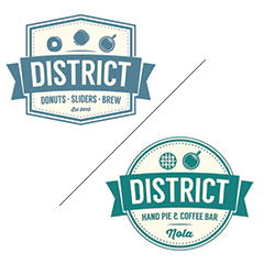 District Donuts. Sliders. Brew / District Pies